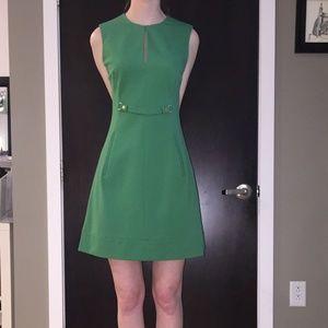 DVF Catherine Sleeveless Split Neck Knit Dress